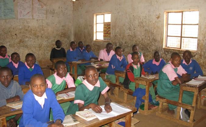 Eighth grade class in Kenya.